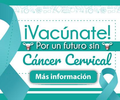 Banner Vacúnate contra el cáncer cervical