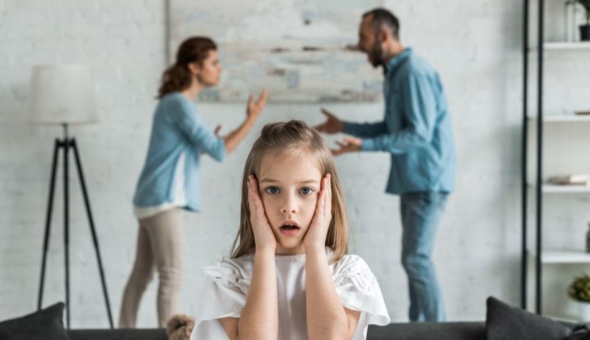 La importancia de no discutir delante de los niños