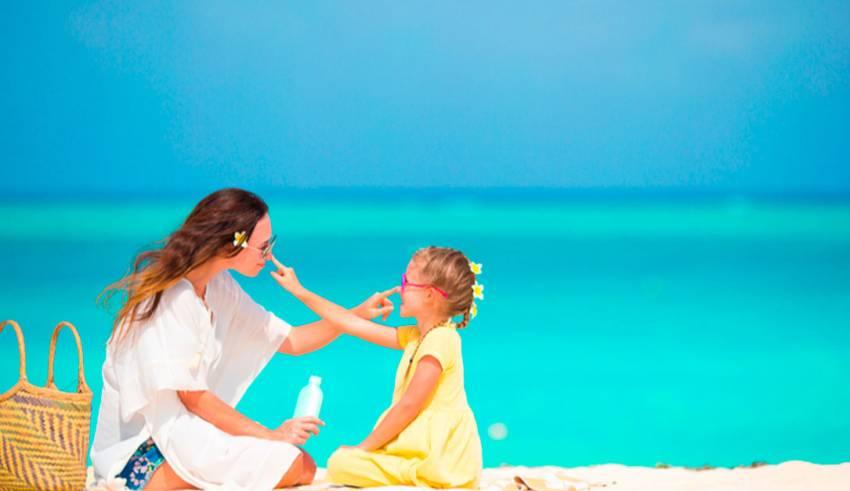 Quemaduras de sol en los niños